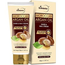 StBotanica Moroccan Argan Oil Hand and Nail Cream, 50g - For Soft, Smooth Hands