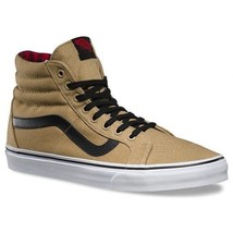 VANS Sk8 Hi Reissue (Twill & Gingham) Cornstalk/Black MEN'S 7.5 WOMEN'S 9 - $54.19