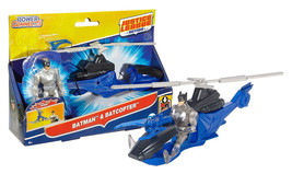 "Justice League Action Batman & Batcopter Vehicle & 4.5"" Figure Mint in Box - $19.88"