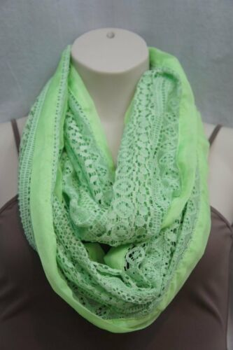 Primary image for Collection Eighteen Infinity Loop Scarf Shock Green Chiffon Lace Cowl Scarf