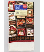 COFFEE KITCHEN TOWEL & DISHCLOTHS SET 3pc Home Collection Brown Cafe NEW - $8.99