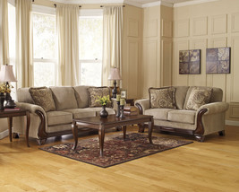 SAVION Traditional Living Room Couch Set - NEW Light Brown Fabric Sofa L... - $1,262.43