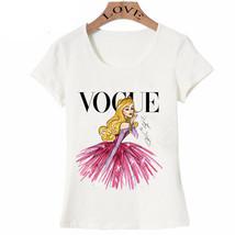 VOGUE punk princess print T Shirt 2016 summer fashion women t-shirt funn... - $16.00