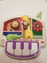 Luv U Zoo Crib to Floor Activity Piano Fisher Price V5611 Tested Free Sh... - $23.75