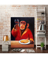 Art Oil Painting Monkey canvas home abstract canvas picture No Frame - $24.99+