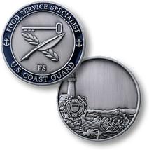 "USCG COAST GUARD FOOD SERVICE SPECIALIST FS  1.75"" CHALLENGE COIN - $17.14"