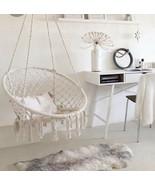 Outdoor Indoor macrame Garden Cotton Hanging Rope Air/Sky Chair Swing Ha... - $88.11