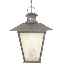 Quoizel Lighting Outdoor Outside Hanging Lantern Marble Glass Rustic Style - €77,18 EUR