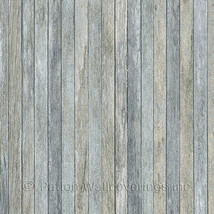 Scrapwood Wallpaper Blue Norwall Wallcovering LL36239 - $40.99