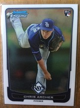 CHRIS ARCHER 2012 Topps Bowman Chrome RC #70 Rookie Baseball Card-Tampa Bay Rays - $6.00