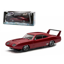 Doms 1969 Dodge Charger Daytona Maroon Fast and Furious 6 Movie (2013) 1... - $28.71