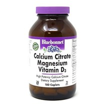 Bluebonnet Nutrition Calcium Citrate Magnesium Plus Vitamin D3 Caplets, Bone Hea