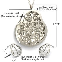 Sets For Women Girl 316L Stainless Steel peanut Pendants Necklace Stud Earrings  image 2