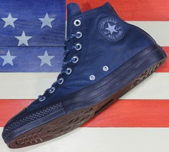 CONVERSE Chuck Taylor SAMPLE ALL-STAR HI Navy Leather Thermal Shoes [157... - $111.11