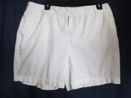 "Liz Claiborne New York White Cotton Shorts ""Jackie"" SZ 12 - $15.00"