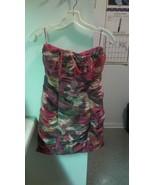 BB Dakota Multicolor Strapless Mini Dress Sz 6 NWT Green Yellow Rust Fal... - $18.49