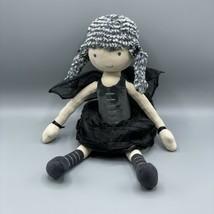 "Jellycat London 17"" Faye Fairy Black Wings Stuffed Animal Doll Toy Plush... - $34.64"