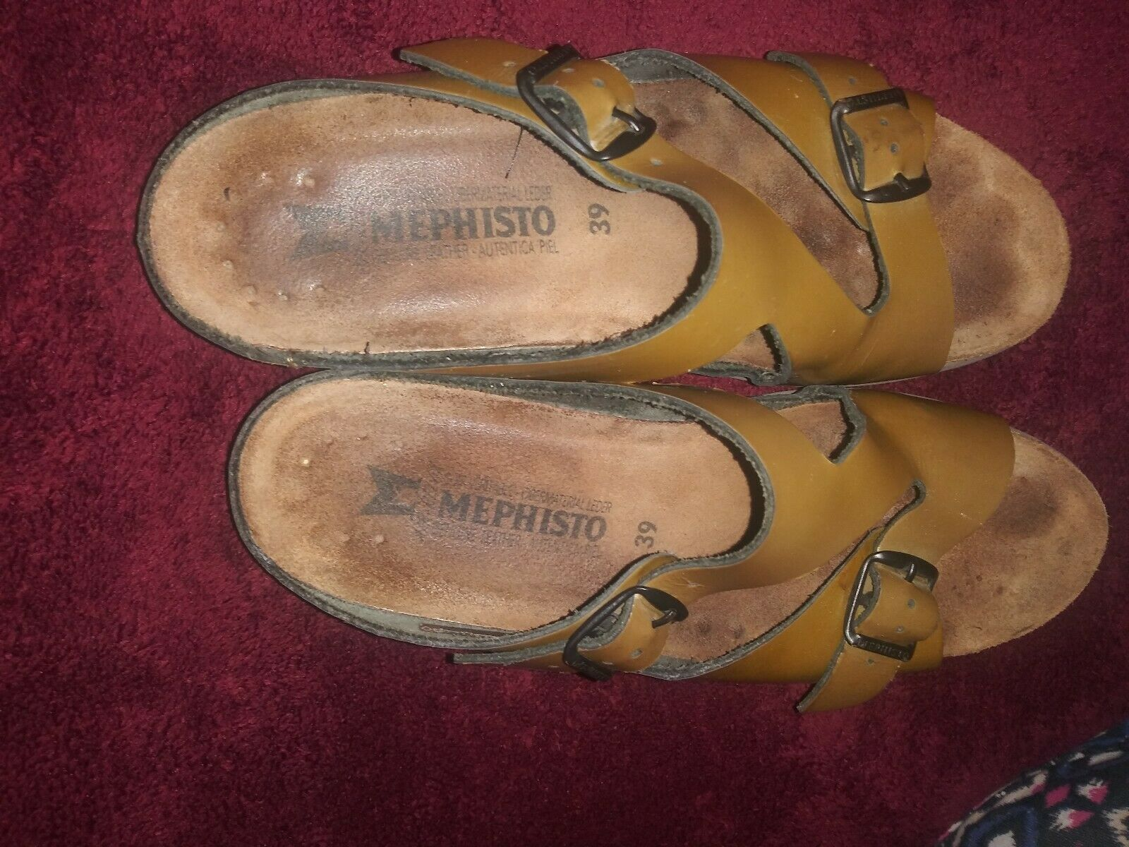 Mephisto Gold Brown Strappy Sandals Size 39