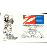 FDC POSTCARD- BILL OF RIGHTS- CONSTITUTION SERIES- 1991 ARTCRAFT CACHET ... - $1.96