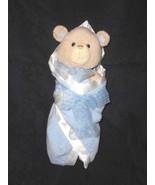 Baby Gund Bear Tales Blue Swaddled Bear Plush Stuffed Animal Blanket 58610 - $13.84