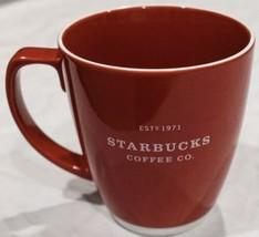Starbucks Coffee Mug Est 1971 Large 18 oz Red w/White Mug 2007 - $11.12