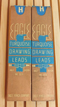 Vintage Eagle Turquoise Drawing Drafting Lead H -2 Packs ( 6 in each pack) - $9.85