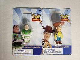 A3=Lot of 2 Erasers WOODY-BUZZ Back To School Supplies - $6.93