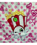 Shopkins Hand Towel Pink and White Poppy Corn NEW Polka Dots Hearts - $6.92