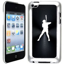 Black Apple iPod Touch 4th Generation Hard Case Cover B942 Baseball Player - $9.89