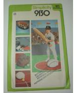 VTG 1970s Simplicity Sewing Pattern SPORTS #9130 Baseball Tennis FOOTBALL - $10.39