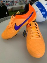 Nike Tiempo Genio Leather FG Size 4.5 Free Shipping Free Socks  - $49.49