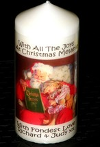 "Personalised gift  Christmas candle large Santa and Child 6""inch  #1 - $16.84"