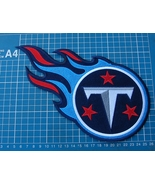 """TENNESSEE TITANS FOOTBALL NFL SUPERBOWL 10"""" HUGE LOGO PATCH EMBROIDERED ... - $25.00"""