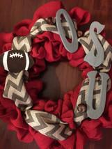 Custom Chevron Ohio State Wreath -GO BUCKEYES - $48.00