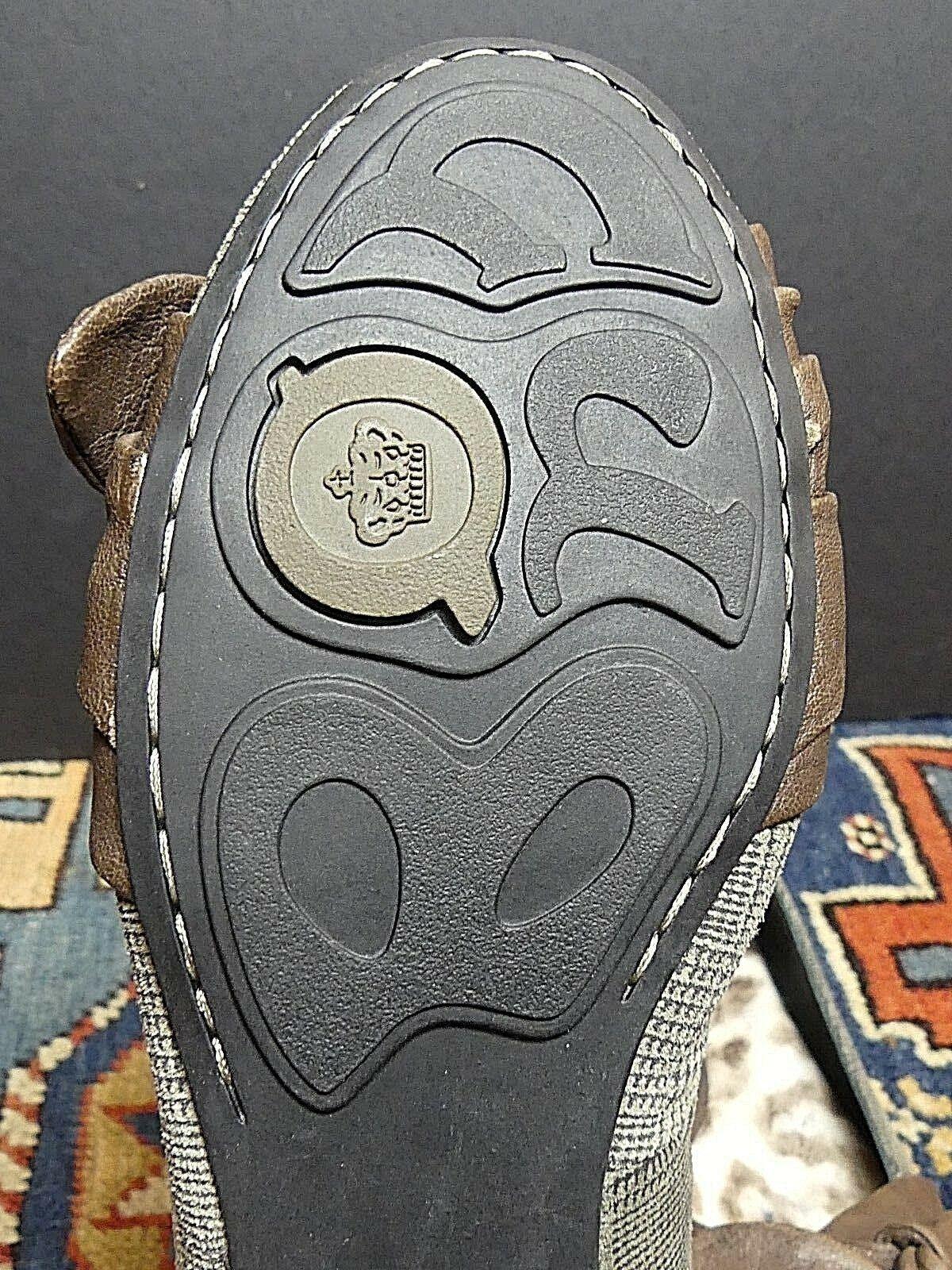 Women's Born Plaid Brown Leather Bow-Tie Flats Sz 40.5/9 MINT!