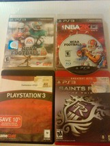 Lot of five (5) PS3 video games  Playstation 3 saints row, NCAA, darksiders Etc. - $7.00