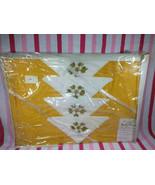 1960s NEW Old/Stock Playfair 5pc Neverpress Cherry Blossom Tablecloth Na... - $28.00