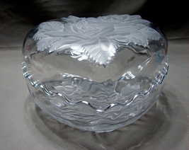 Mikasa Two Piece Lidded Candy Dish Featuring Frosted Roses on Lid and Bo... - $7.99