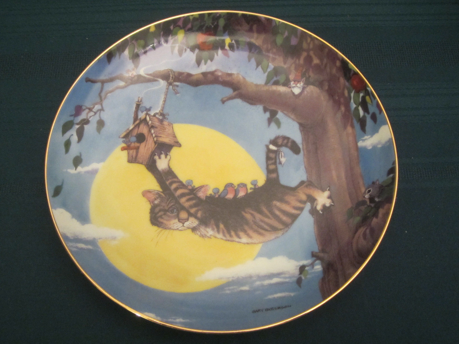 Primary image for THE HANG OUT Cat Collector Plate GARY PATTERSON Comical Cats BIRDHOUSE