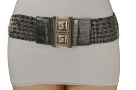 Women Grey Elastic Beads Waistband Fashion Belt Hip High Waist Timeless ... - $18.61