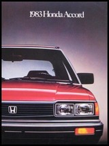 1983 Honda Accord ORIGINAL Dealer Color Brochure - $9.51