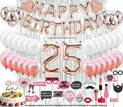 25th Birthday Decorations with Photo Props | 25 Birthday Party Supplies ... - $49.89