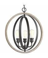 Progress Lighting P500093-143 Conestee Three-Light Pendant, Black - $314.20