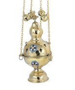 High Polished Brass Christian Church Thurible Incense Burner Censer (978... - $69.08