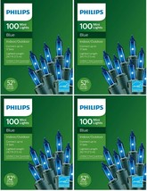 Lot of 4 Philips 100ct Christmas Incandescent Smooth Mini String Lights ... - $19.99