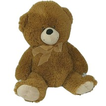 MTY International Brown Teddy Bear Plush Stuffed Animal Toy with Bow 20 ... - $24.74