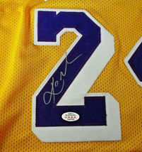 KOBE BRYANT / LOS ANGELES LAKERS / AUTOGRAPHED LAKERS YELLOW CUSTOM JERSEY / COA image 4