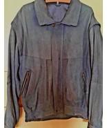 Men's Vintage Black Eagle Blue Suede Jacket With Zip Out Sleeves (50) - $16.83