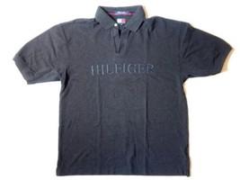 Tommy Hilfiger Men's XL Grey Athletic Gear Large Logo Vtg Golf Polo Rugb... - $23.21