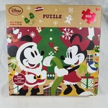 Disney Store Santa Mickey & Minnie Mouse 500 Piece Christmas Puzzle Goofy Donald - $18.46